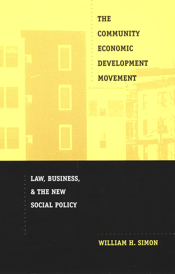 The Community Economic Development Movement