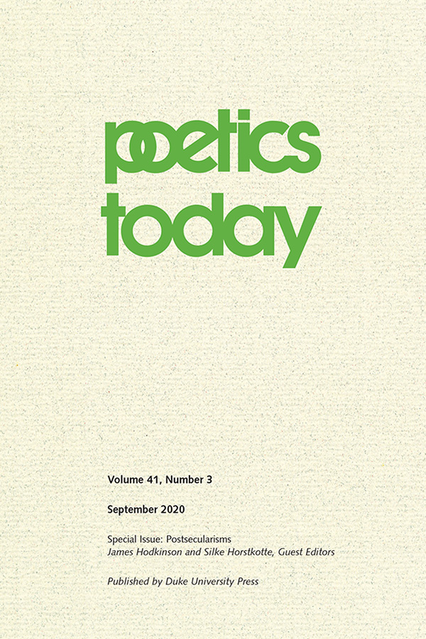 Poetics Today 41:3