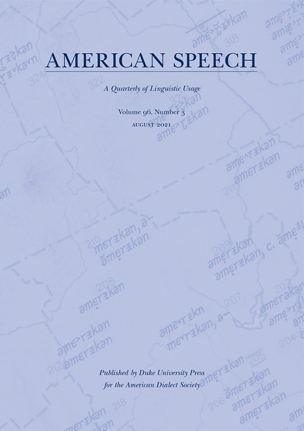 Journal: American Speech
