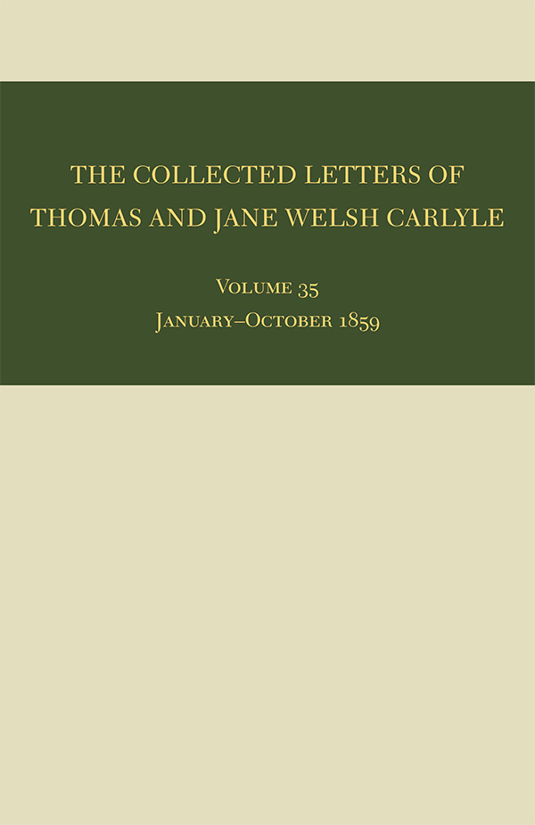 The Collected Letters of Thomas and Jane Welsh Carlyle