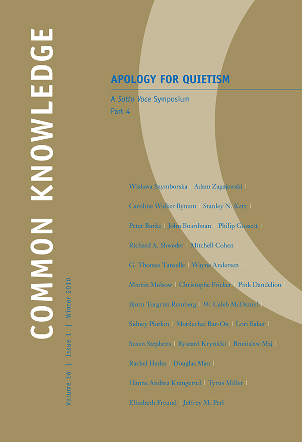 Apology for Quietism, Part 4161