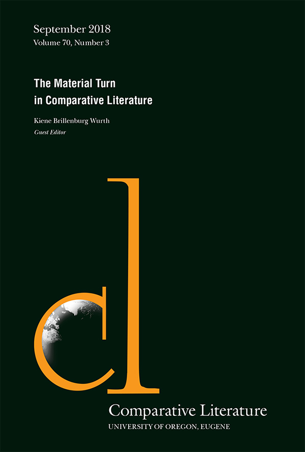 The Material Turn in Comparative Literature