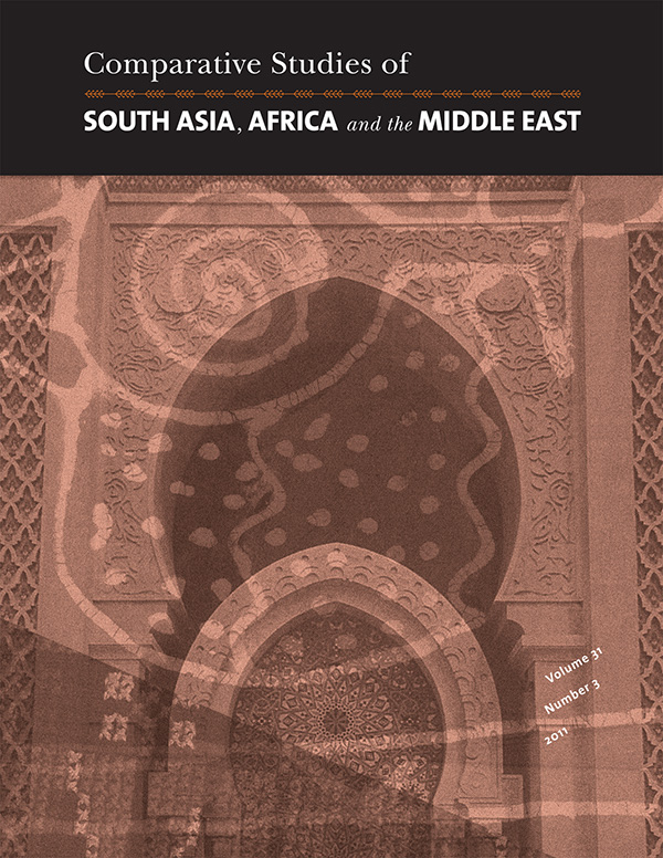 Comparative Studies of South Asia, Africa and the Middle East 31:3