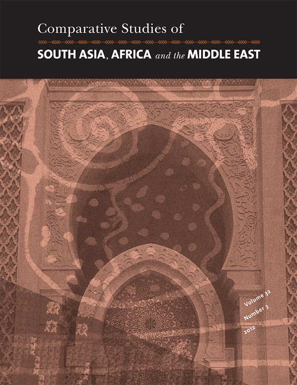 Comparative Studies of South Asia, Africa and the Middle East 32:3