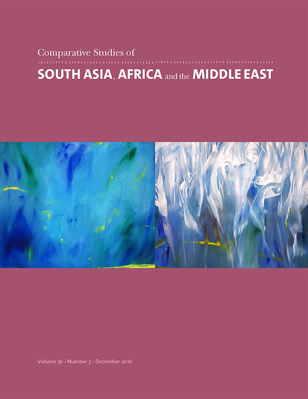 Comparative Studies of South Asia, Africa and the Middle East 36:3