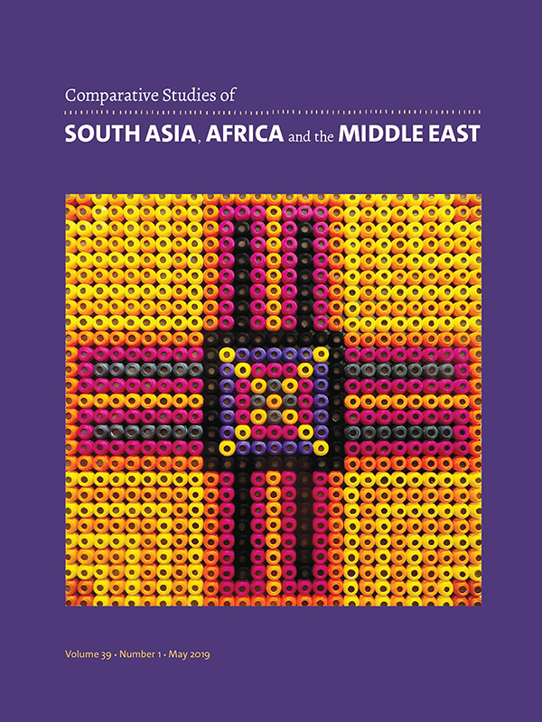 Comparative Studies of South Asia, Africa and the Middle East 39:1