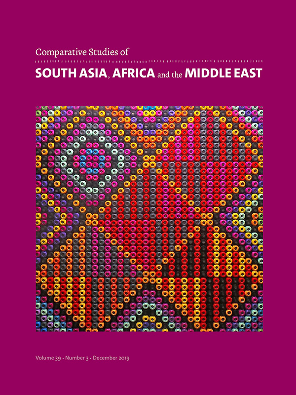 Comparative Studies of South Asia, Africa and the Middle East 39:3