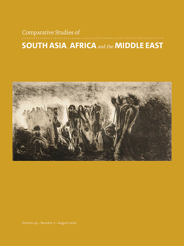 Comparative Studies of South Asia, Africa and the Middle East 40:2