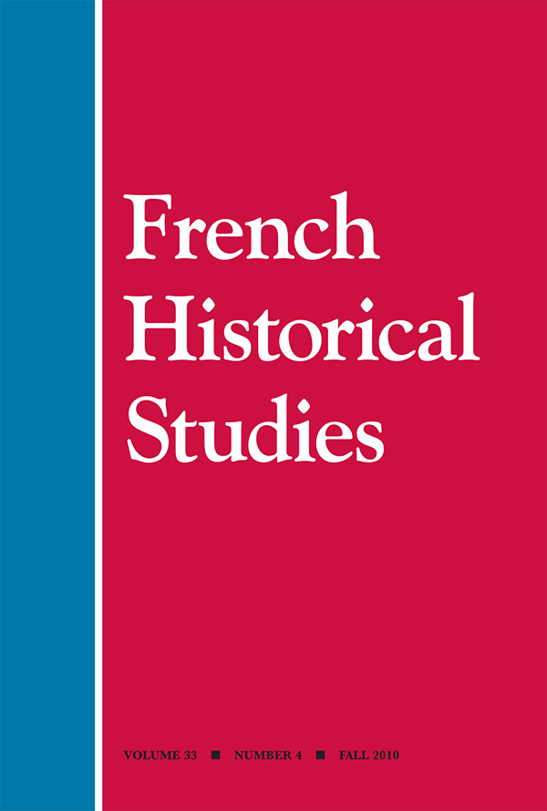 French Historical Studies 33:4334