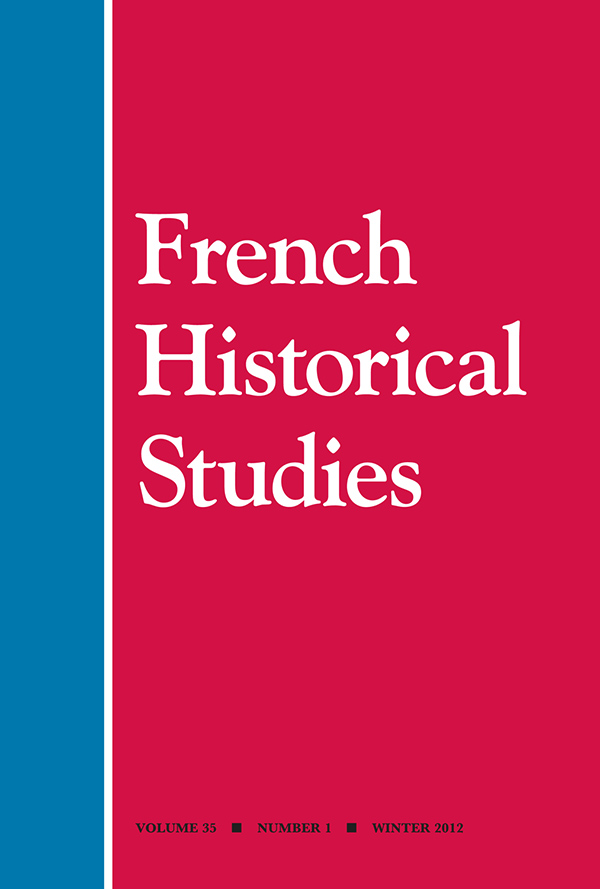 French Historical Studies 35:1351