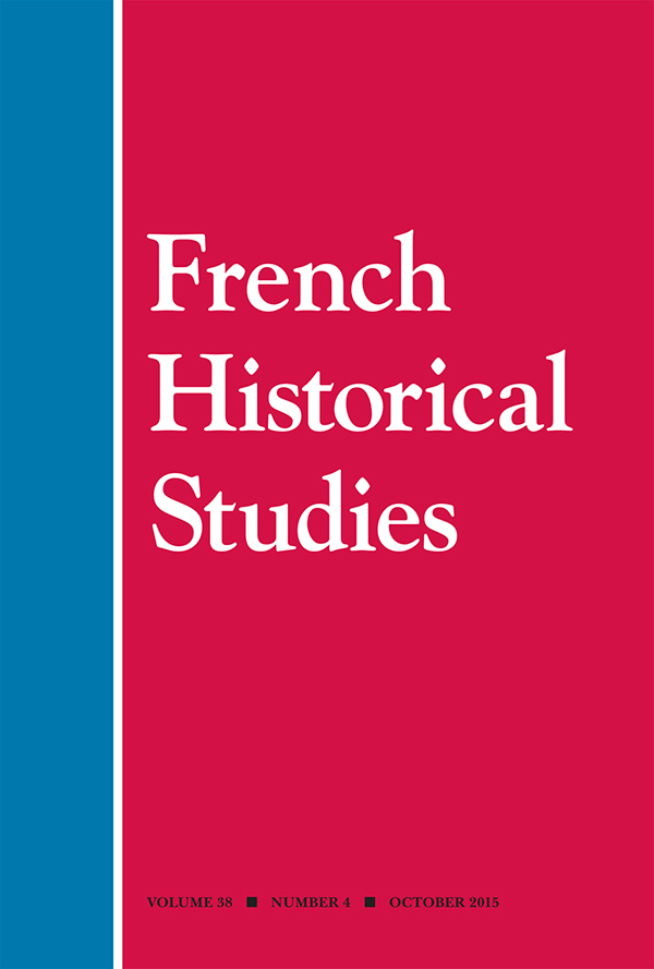 FORUM: Self, Family, Religion, and Society:  New Directions in L'Histoire Moderne in France