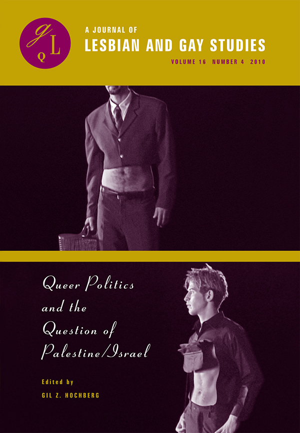 Queer Politics and the Question of Palestine/Israel164