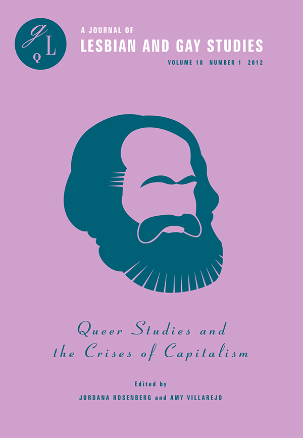 Queer Studies and the Crises of Capitalism181