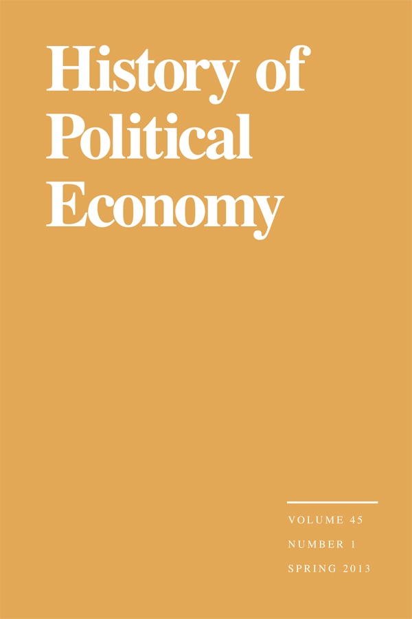 History of Political Economy 45:1