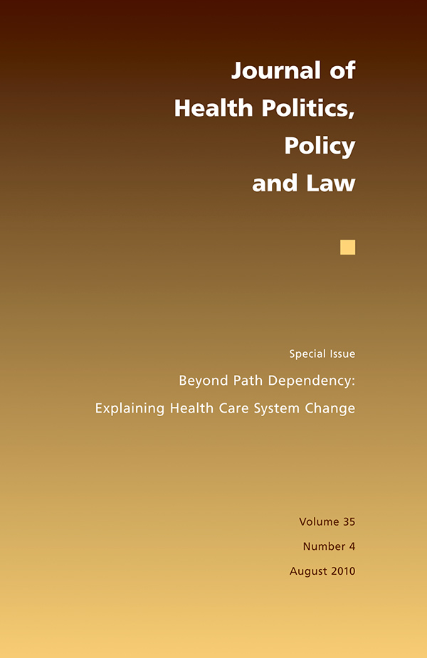 Journal of Health Politics, Policy and Law 35:4354