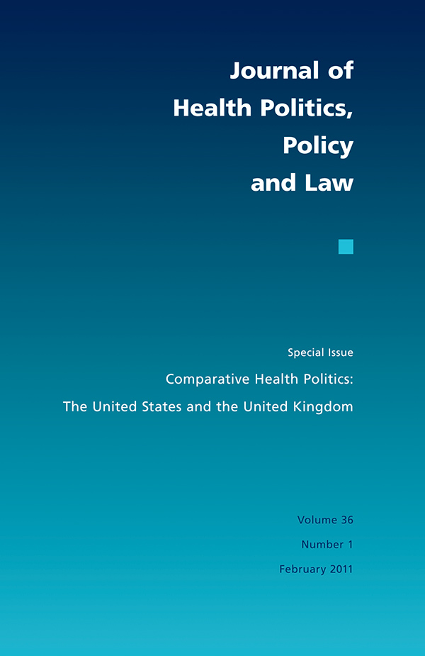 Comparative Health Politics: The United States and the United Kingdom361