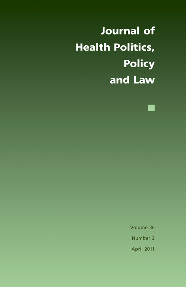 Journal of Health Politics, Policy and Law 36:2362