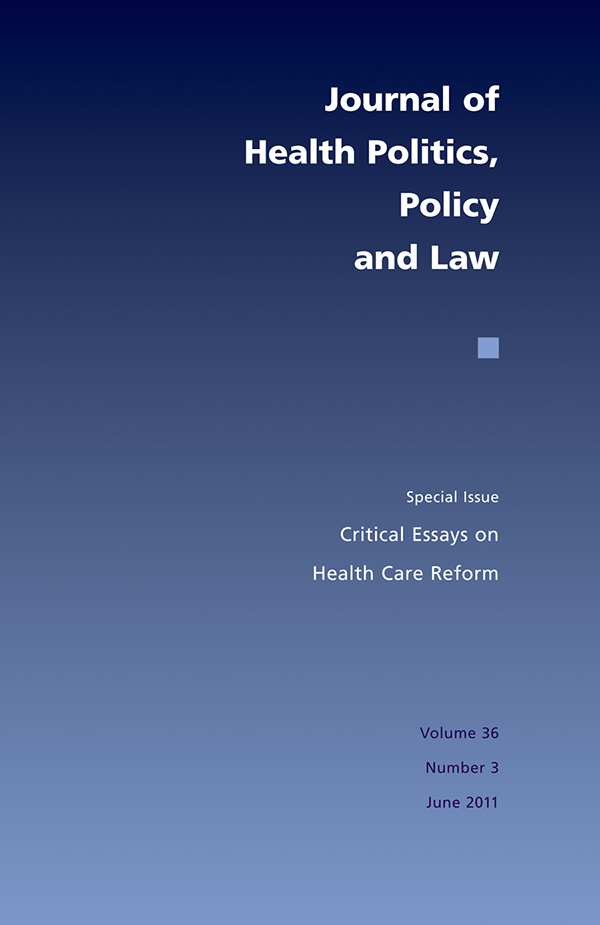 Critical Essays on Health Care Reform363