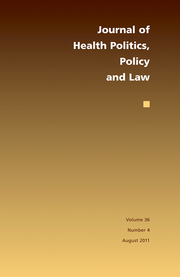 Journal of Health Politics, Policy and Law 36:4364
