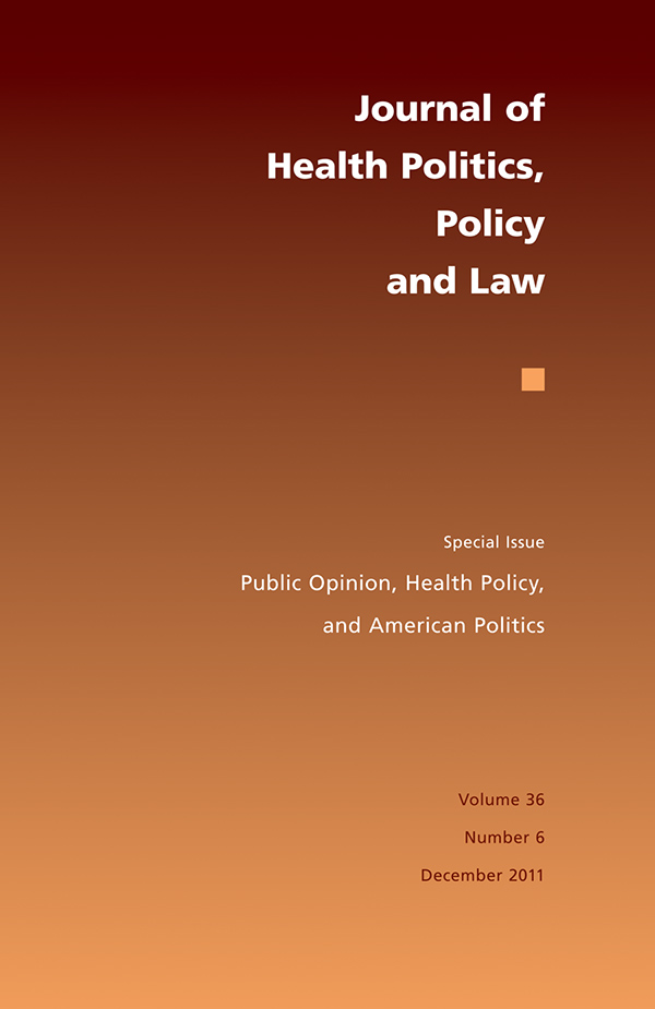Public Opinion, Health Policy, and American Politics366