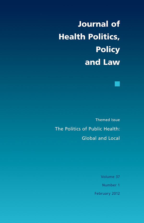 The Politics of Public Health: Global and Local
