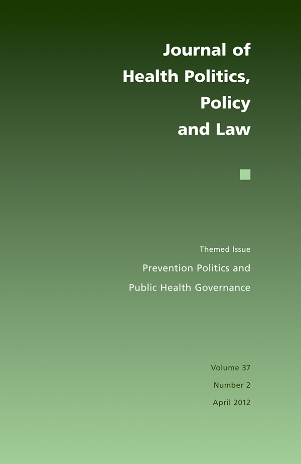 Themed Issue: Prevention Politics and Public Health Governance372