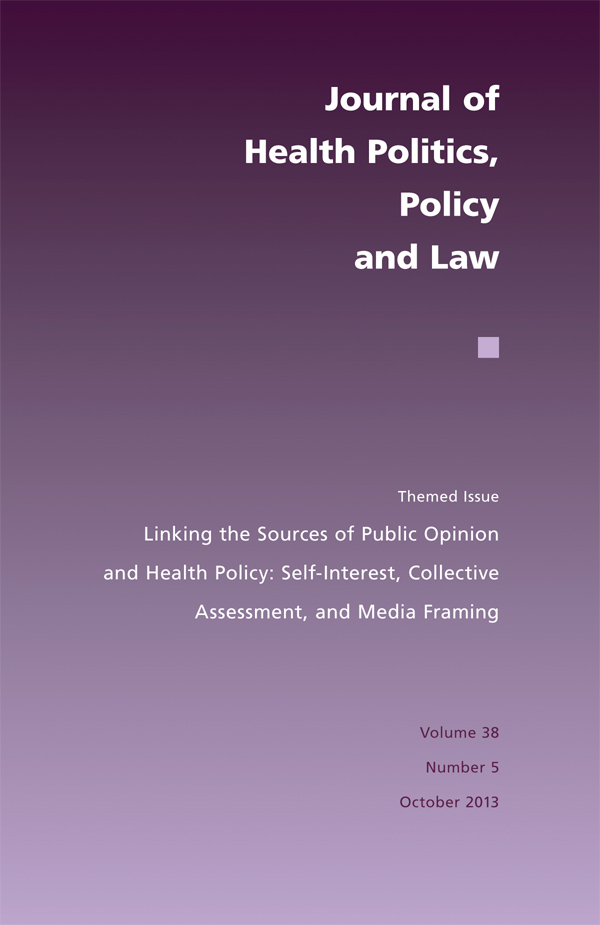 Linking the Sources of Public Opinion and Health Policy385