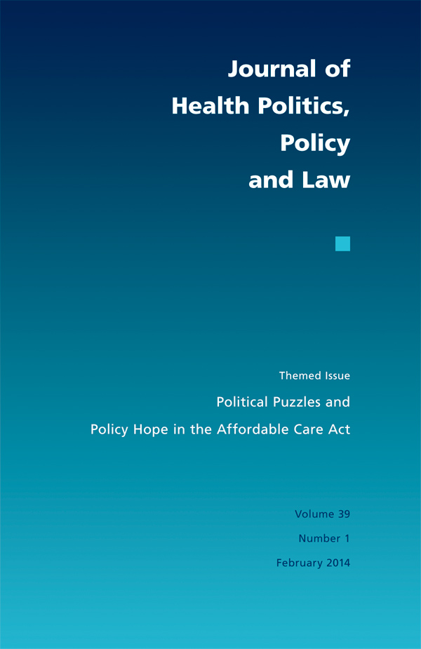 Political Puzzles and Policy Hope in the ACA391