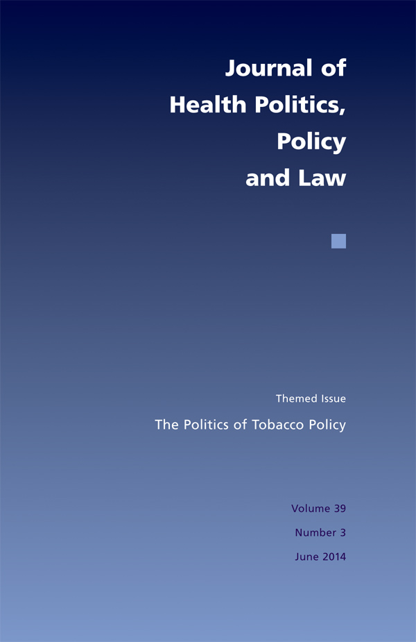 The Politics of Tobacco Policy393