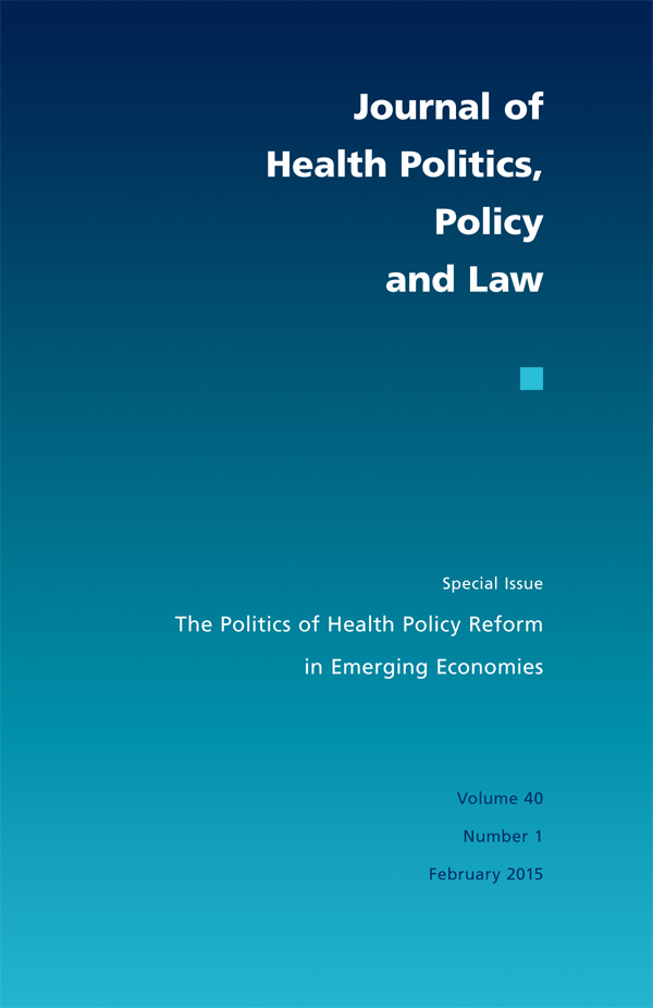 The Politics of Health Policy Reform in Emerging Economies401