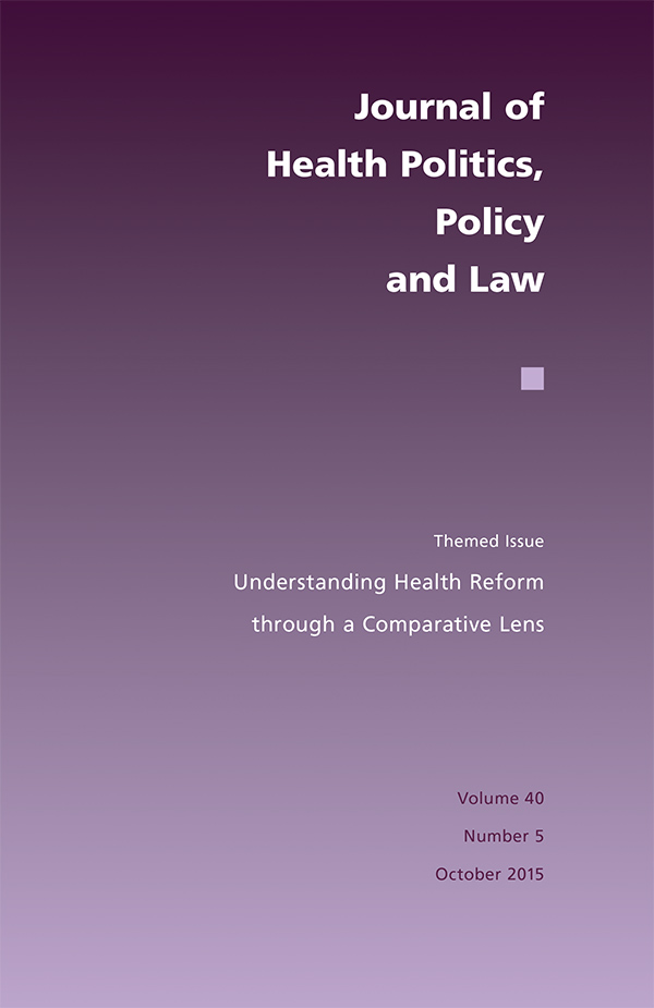 Themed Issue: Understanding Health Reform through a Comparative Lens405