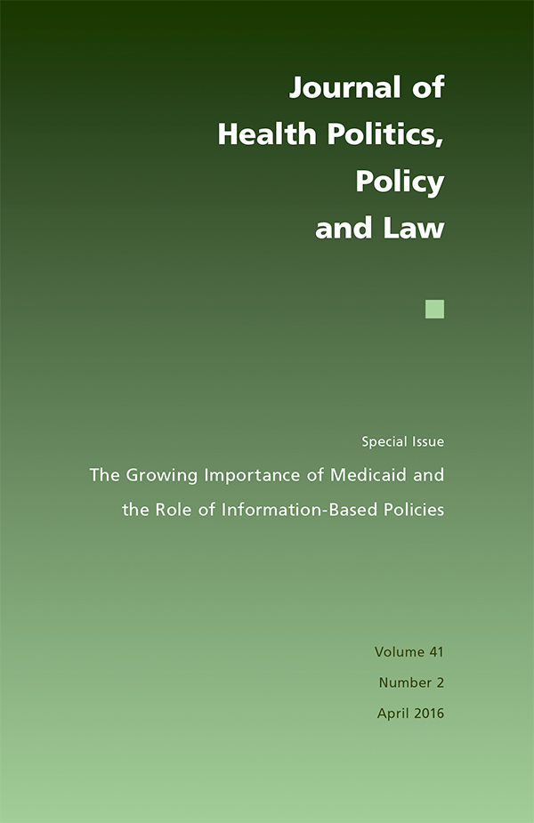 The Growing Importance of Medicaid and the Role of Information-Based Policies412