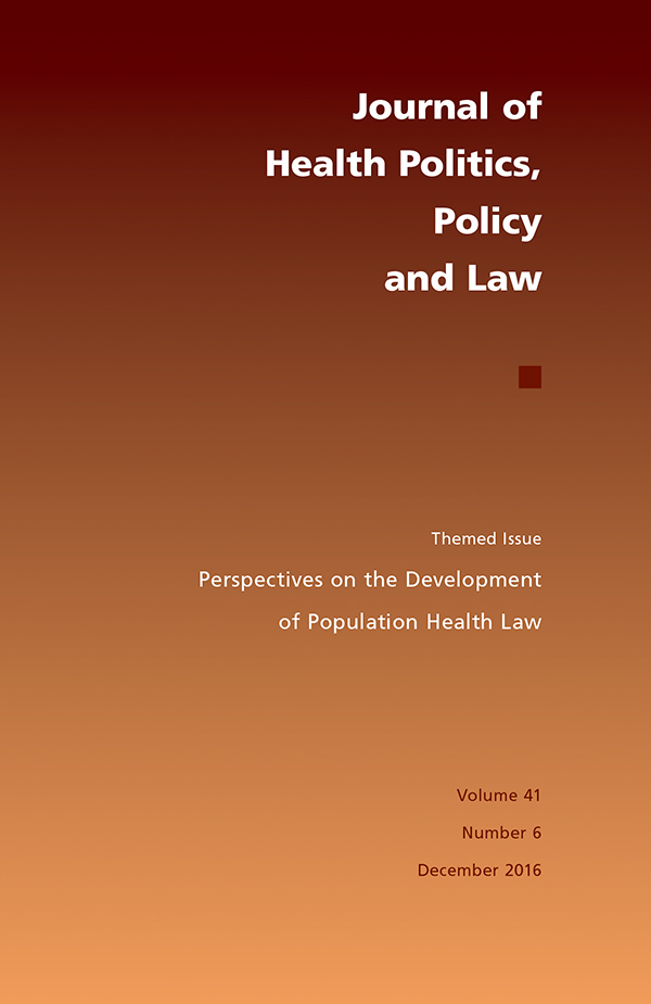 Themed issue: Perspectives on the Development of Population Health Law416