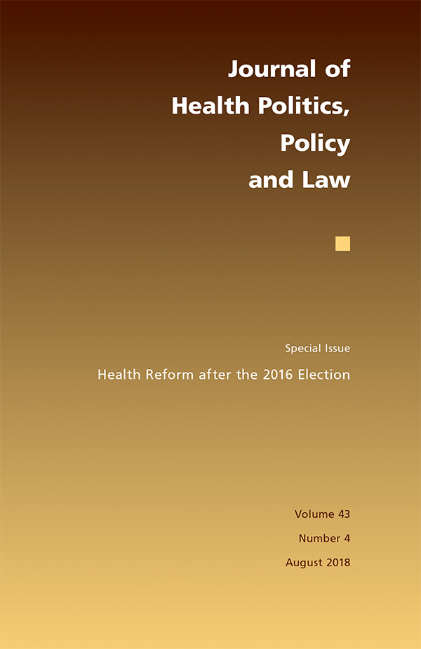 Health Reform after the 2016 Election434