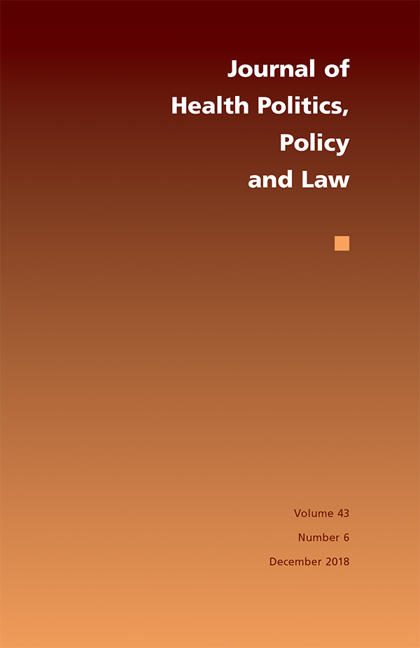 Journal of Health Politics, Policy and Law 43:6436