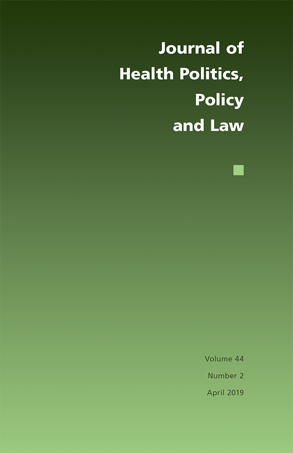 Journal of Health Politics, Policy and Law 44:2442