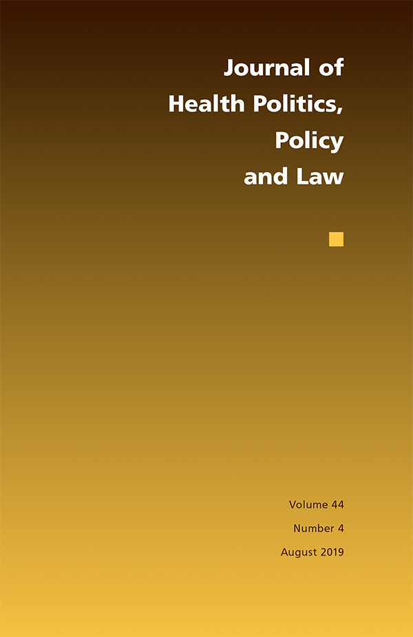 Journal of Health Politics, Policy and Law 44:4