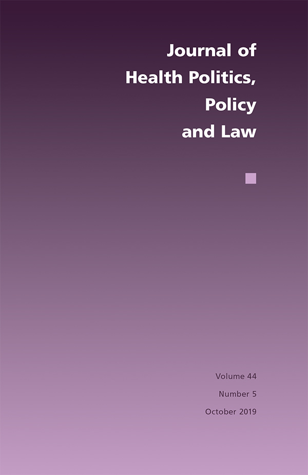Journal of Health Politics, Policy and Law 44:5