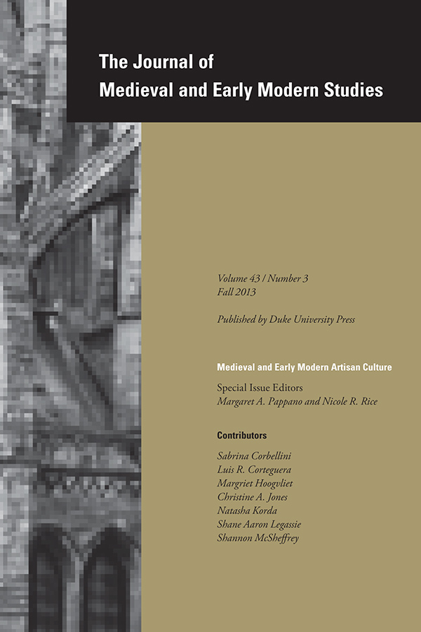 Medieval and Early Modern Artisan Culture433