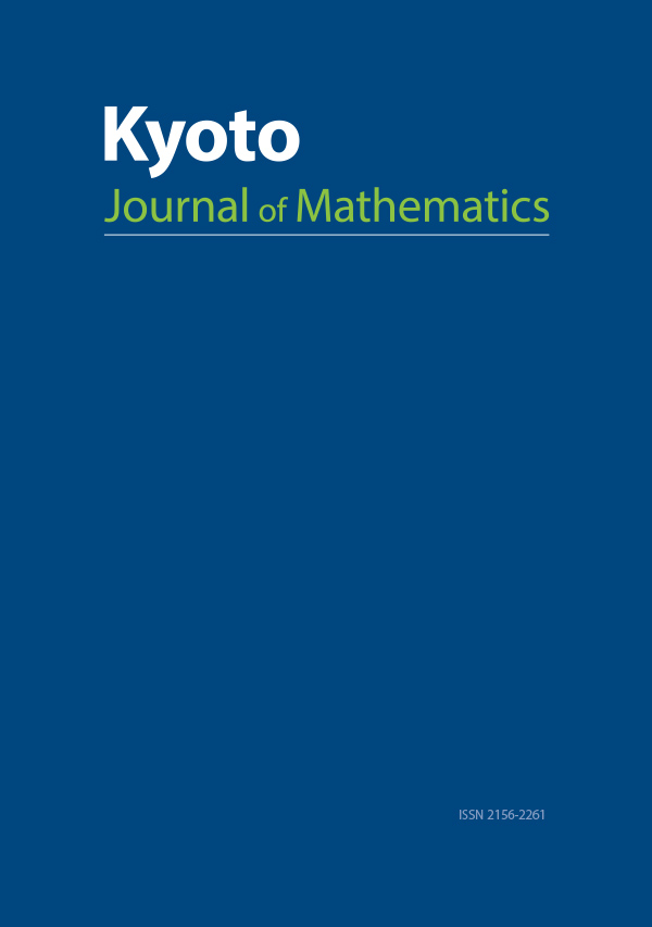 Kyoto Journal of Mathematics - Mathematics