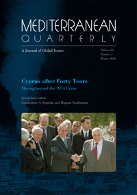Cyprus after Forty Years: Moving beyond the 1974 Crisis
