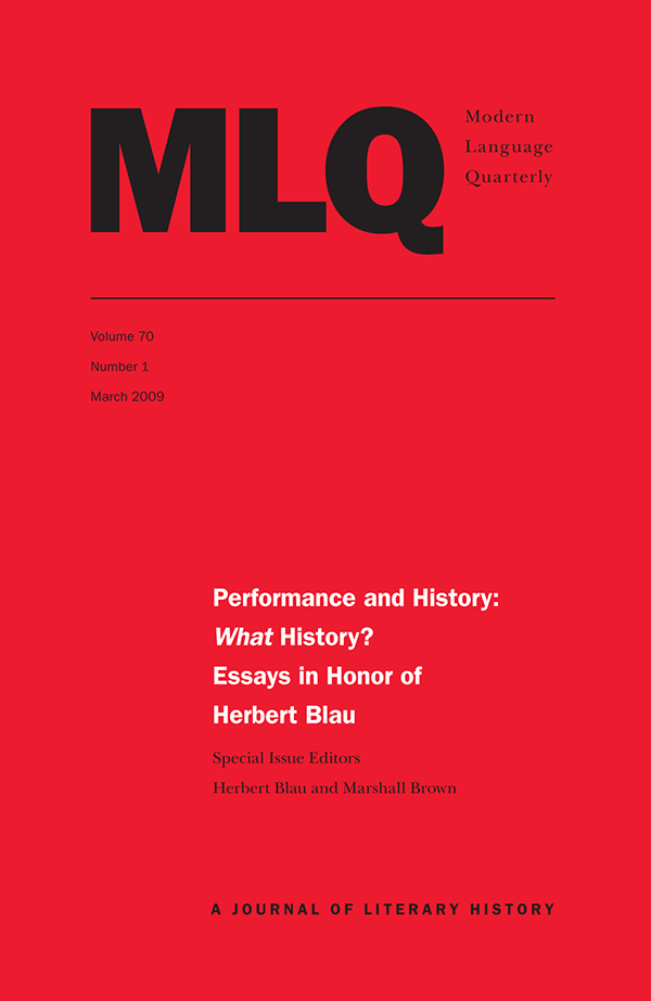 Performance and History: What History?