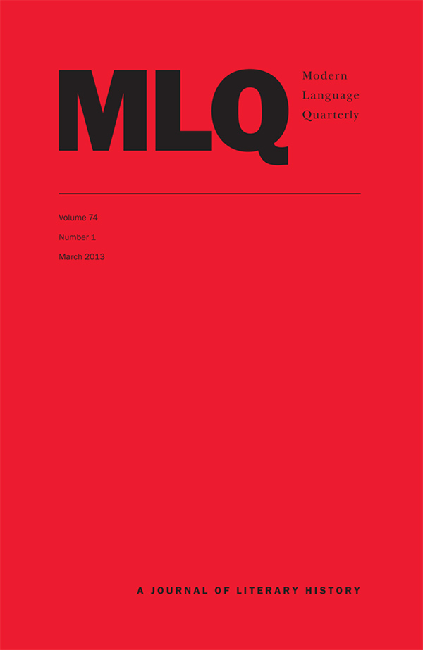 Modern Language Quarterly 74:1