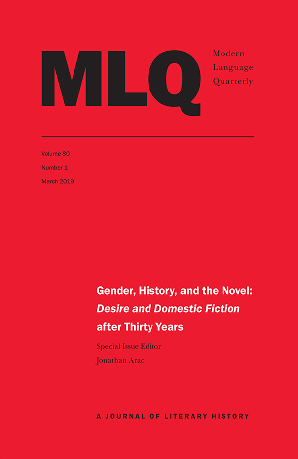 Gender, History, and the Novel: Desire and Domestic Fiction after Thirty Years