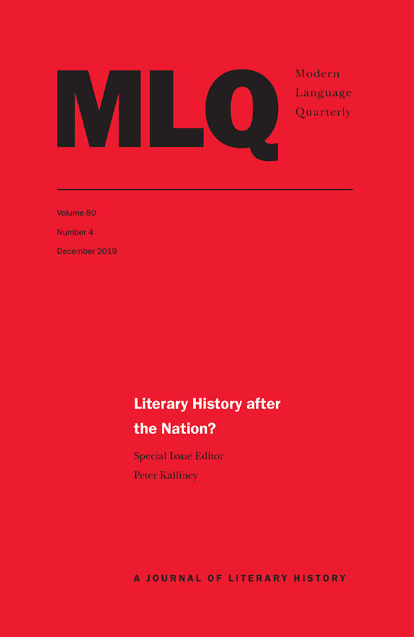 Literary History after the Nation?