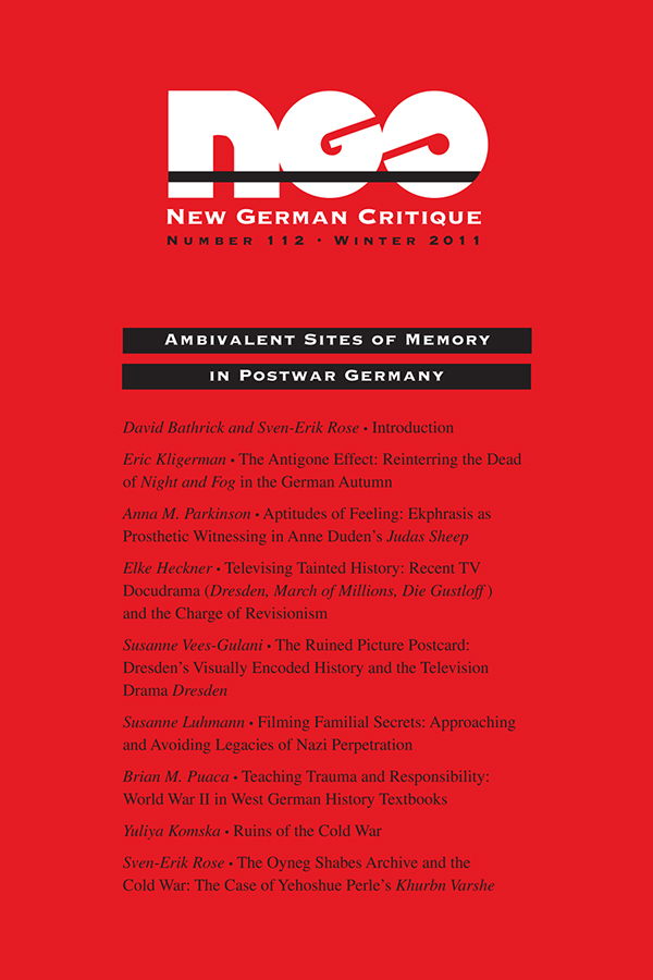 Ambivalent Sites of Memory in Postwar Germany381