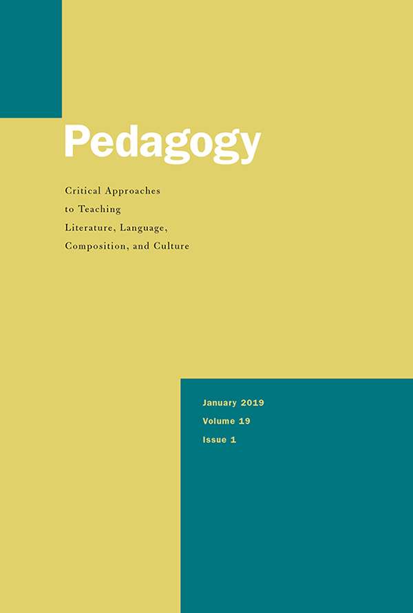 Cover of Pedagogy 19:1