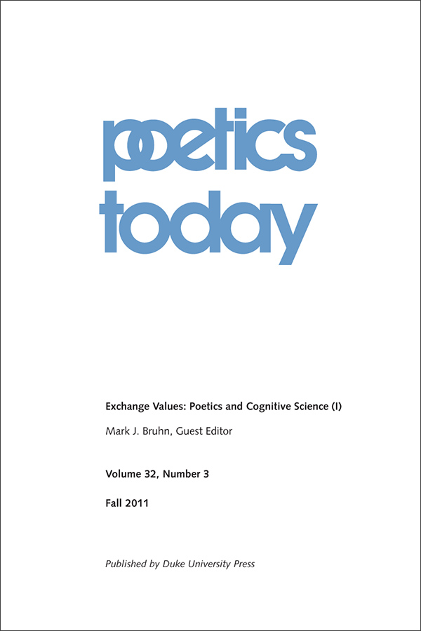 Exchange Values: Poetics and Cognitive Science (I)323