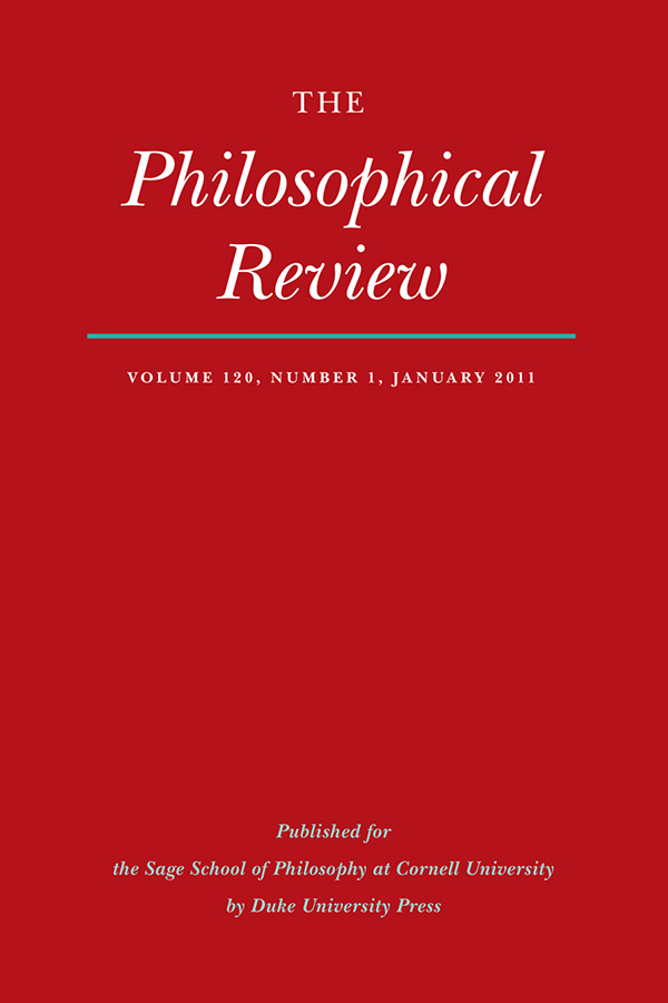 The Philosophical Review 120:1