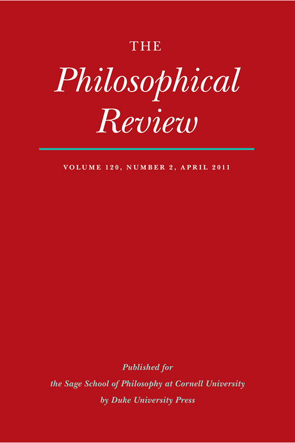 The Philosophical Review 120:2